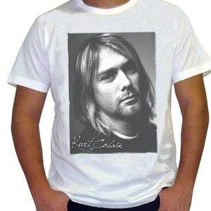 Other - Kurt Donald Cobain Nirvana men white t shirt